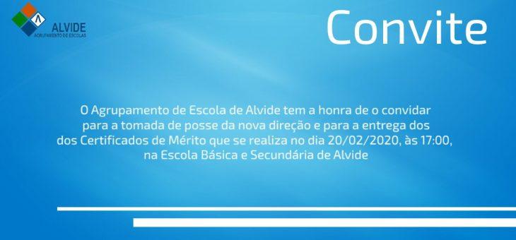CONVITE – Entrega de Certificados de Mérito 20/02/2020